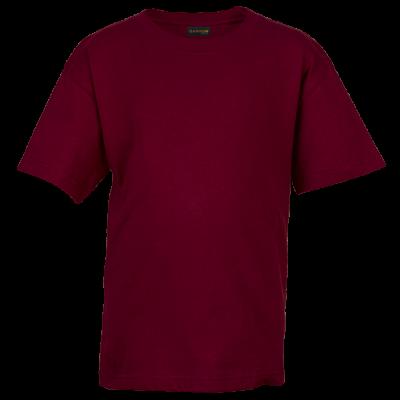 145g Kiddies Crew Neck T-Shirt Maroon Size 9 to 10