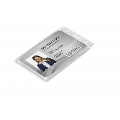 Identity Card Holder Transparent/Frosted White