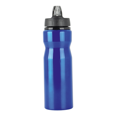 750ml Aluminium Water Bottle with Carry Handle Blue