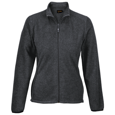 Ladies Hybrid Fleece Charcoal Heather Size Medium