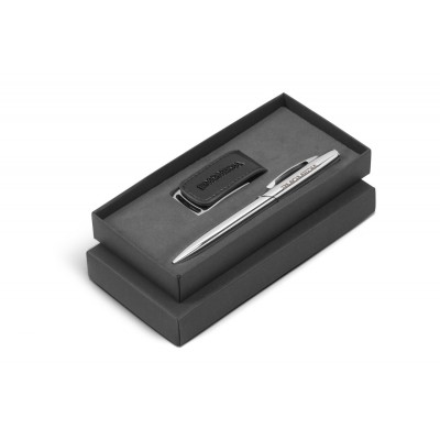 Renaissance Usb And Pen Gift Set Black