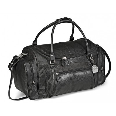 Gary Player Leather Weekend Bag Black