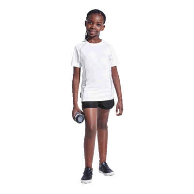 BRT Kiddies Running Shirt White Size 7 to 8