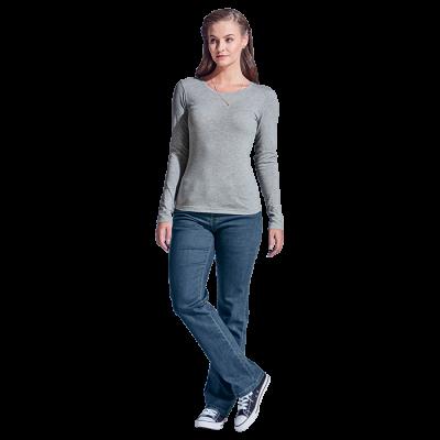 Ladies 145g Long sleeve T-shirt Dark Grey Size 4XL