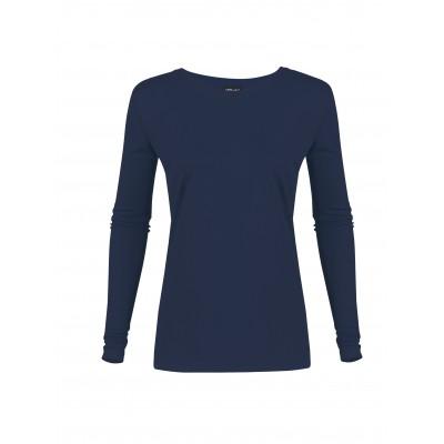 Ladies Long Sleeve All Star T-Shirt Navy Size XL