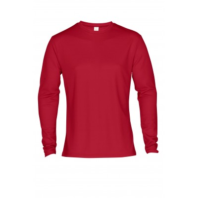 Mens Long Sleeve All Star T-Shirt Red Size 2XL