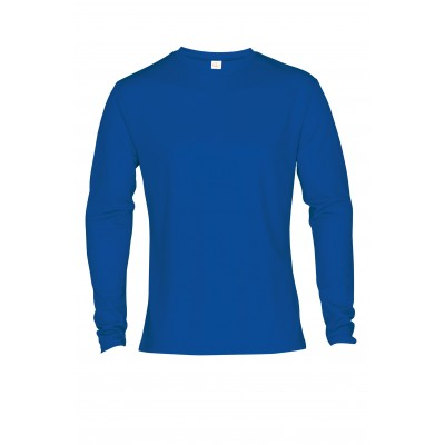 Mens Long Sleeve All Star T-Shirt Royal Blue Size 3XL
