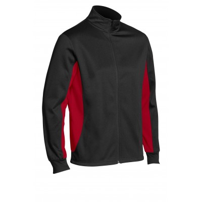 Unisex Championship Tracksuit Black With Red Size 2XL