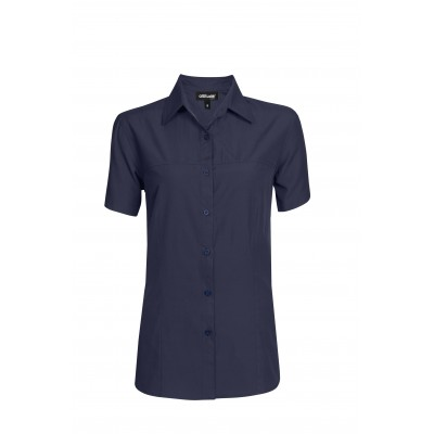 Ladies Short Sleeve Empire Shirt Navy Size 2XL