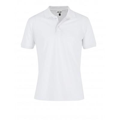 Mens Everyday Golf Shirt White Size 5XL