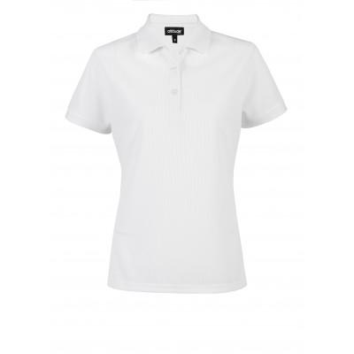 Ladies Exhibit Golf Shirt White Size Large