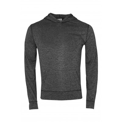 Mens Fitness Lightweight Hooded Sweater Black Size 2XL