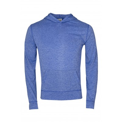 Mens Fitness Lightweight Hooded Sweater Royal Blue Size 2XL