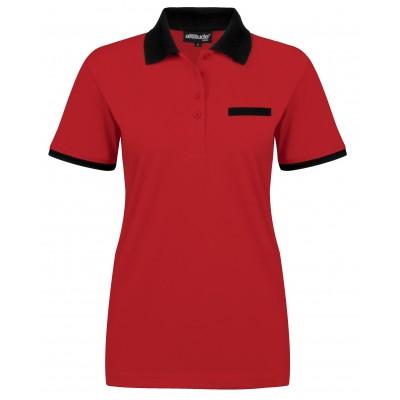 Ladies Caliber Golf Shirt Red Size Large