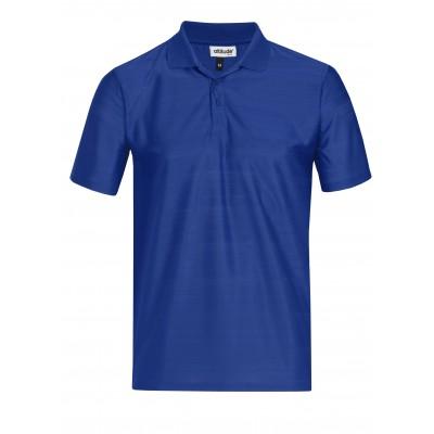 Mens Milan Golf Shirt Royal Blue Size 4XL