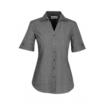 Ladies Short Sleeve Northampton Shirt Black Size Small