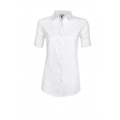 Ladies Short Sleeve Nottingham Shirt White Size 3XL