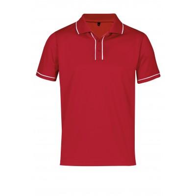Mens Osaka Golf Shirt Red Size 4XL