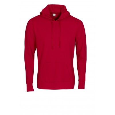 Mens Physical Hooded Sweater Red Size Large
