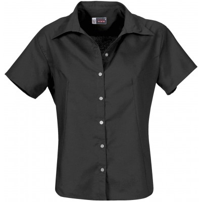 Ladies Short Sleeve Aspen Shirt Black Size 2XL