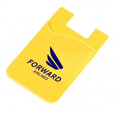 Silicone Phone Card Holder Yellow