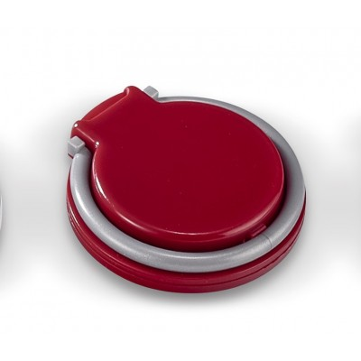 Coil-Ring Grip & Phone Stand Red