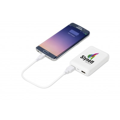 Dynamic 10000Mah Power Bank Solid White