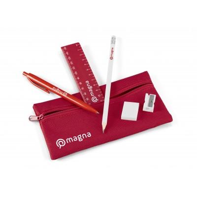 Aptitude Stationery Set Red