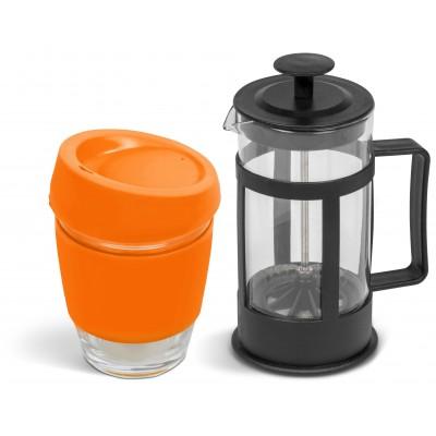 Kooshty Kupper Set With Black Plunger Orange