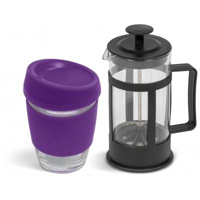 Kooshty Kupper Set With Black Plunger Purple