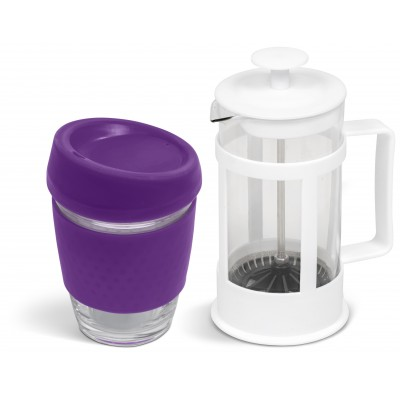 Kooshty Kupper Set With White Plunger Purple