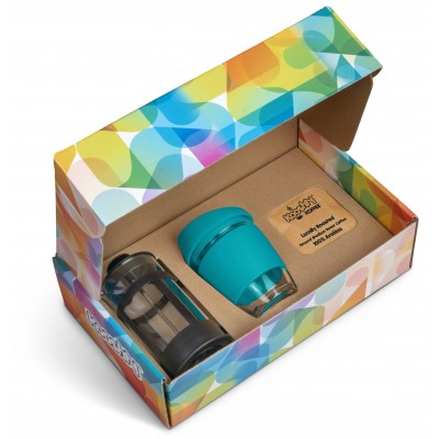 Kooshty Brew Koffee Set With Black Plunger Turquoise