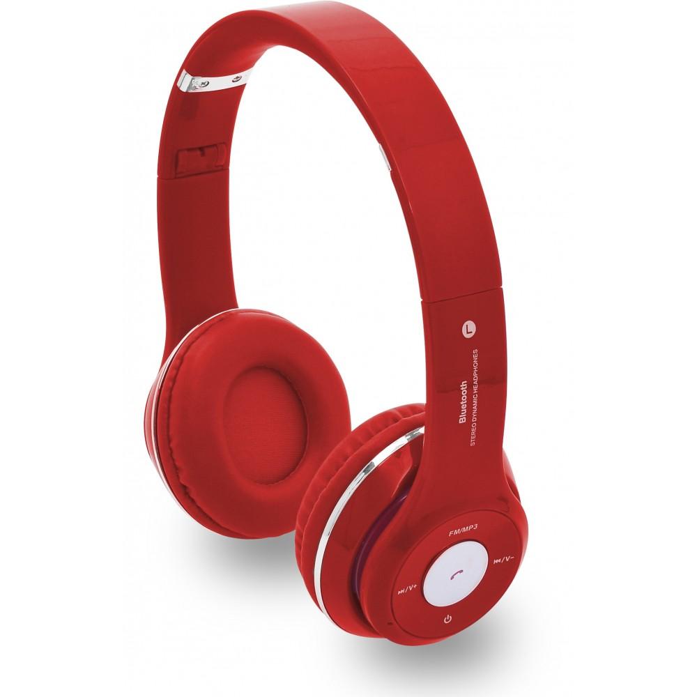 Swiss Cougar Phantom Bluetooth Headphones Red
