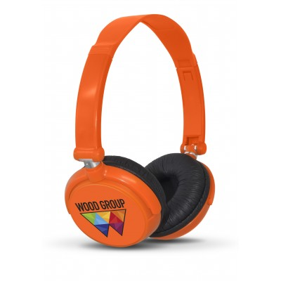 Omega Wired Headphones Orange