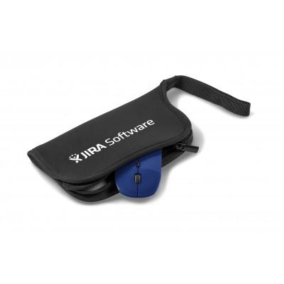 Omega Wireless Optical Mouse & Mousepad Blue