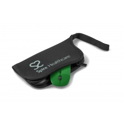 Omega Wireless Optical Mouse & Mousepad Green