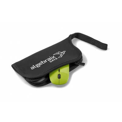 Omega Wireless Optical Mouse & Mousepad Lime
