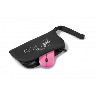 Omega Wireless Optical Mouse & Mousepad Pink