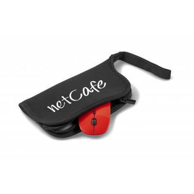 Omega Wireless Optical Mouse & Mousepad Red