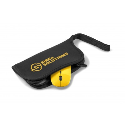 Omega Wireless Optical Mouse & Mousepad Yellow
