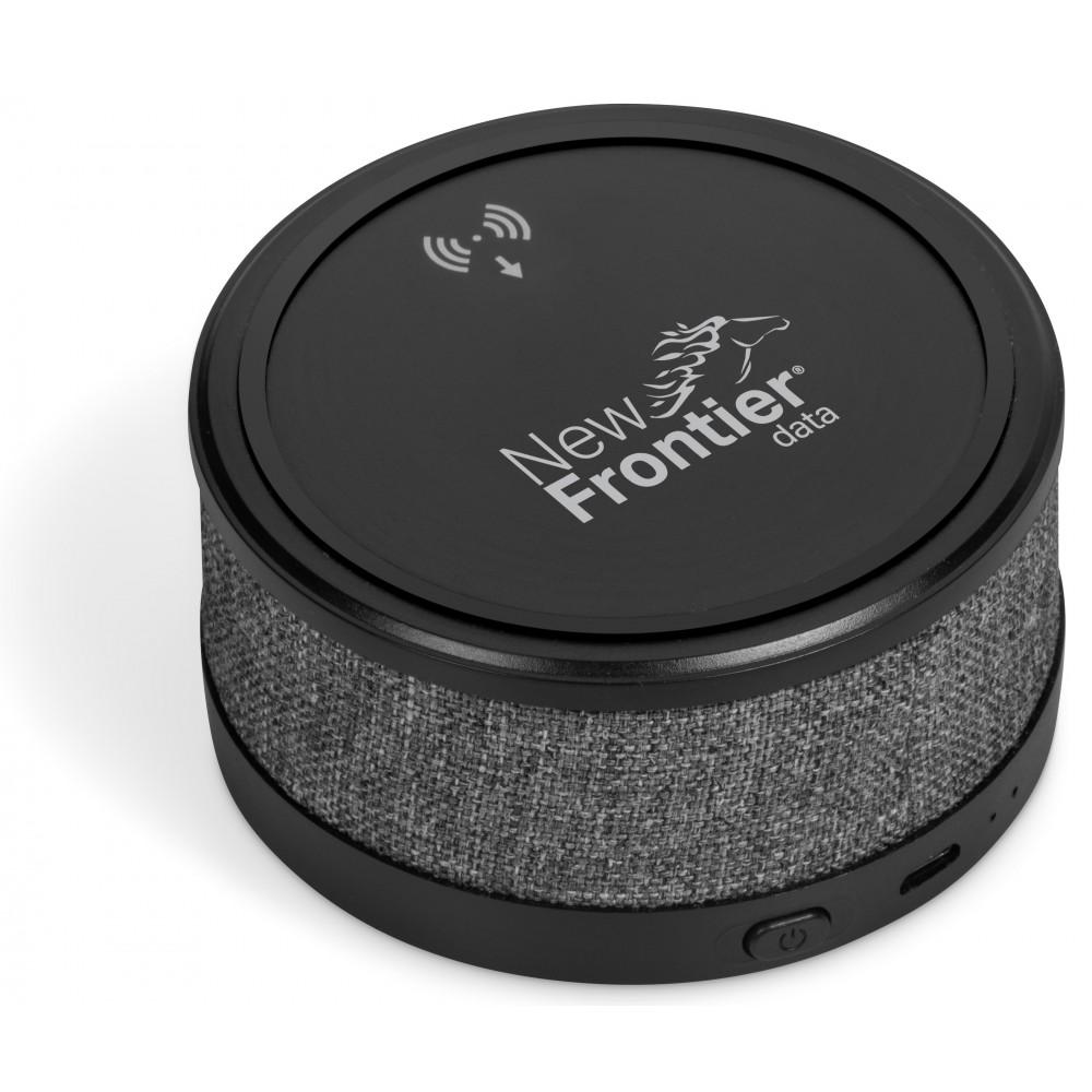 Aberdeen Wireless Charger & Bluetooth Speaker Grey