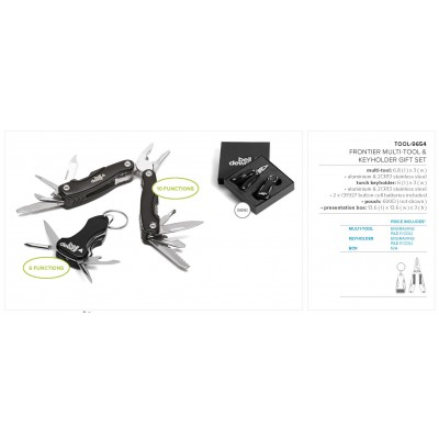 Frontier Multi-Tool & Keyholder Gift Set