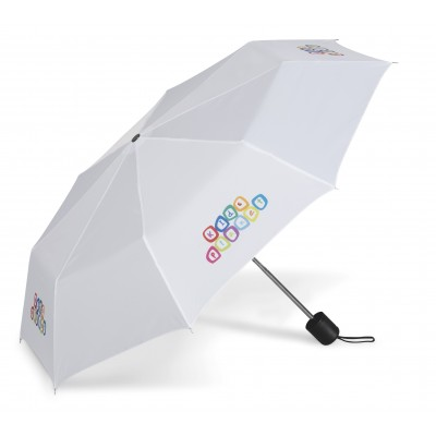 Tropics Compact Umbrella Solid White