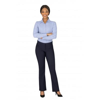 Ladies Long Sleeve Wallstreet Shirt Blue Size Small