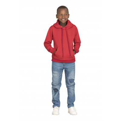 Kids Essential Hooded Sweater Red Size 6