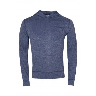 Mens Fitness Lightweight Hooded Sweater Navy Size 2XL