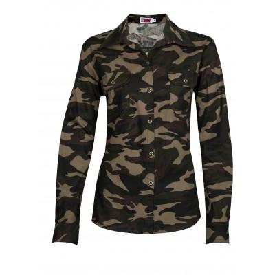 Ladies Long Sleeve Wildstone Shirt Camo Size XL