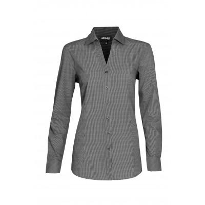 Ladies Long Sleeve Northampton Shirt Black Size Medium