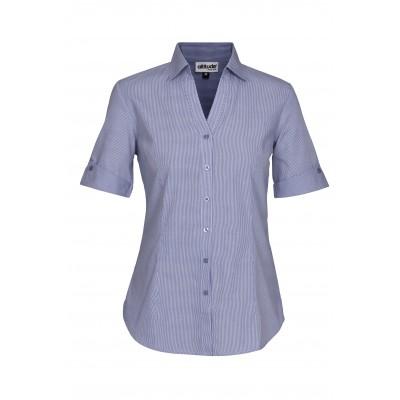 Ladies Short Sleeve Northampton Shirt Royal Blue Size XL