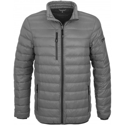 Mens Scotia Light Down Jacket Grey Size Small